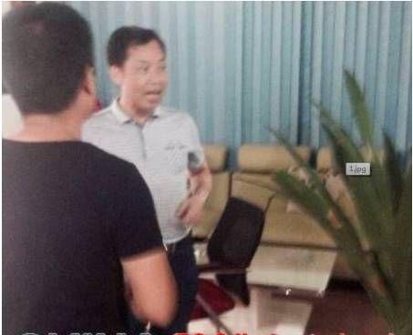 """熊艾春在耒阳社区网站办公室""""讨要说法"""""""