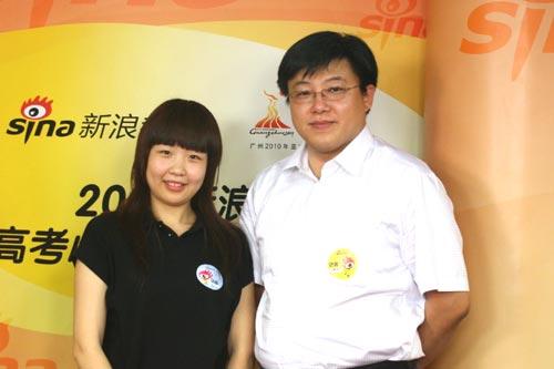 新东方铭师堂高考复读学校校长马永刚和骨干教师李艳
