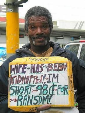 老婆被绑架,缺98块钱赎身!每天都差98块!