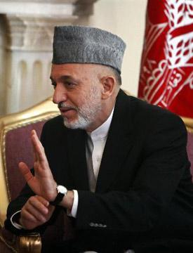 阿富汗总统卡尔扎伊