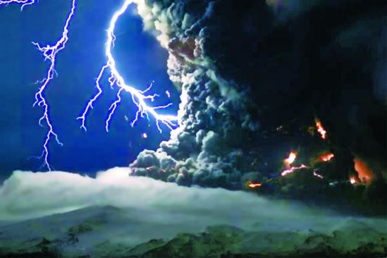 national geographic iceland volcano lightning. Intense lightning storms mixed