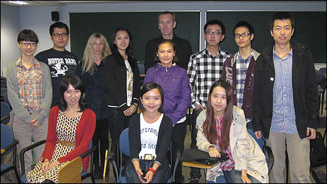 KCL students and Damien Fitzpatrick