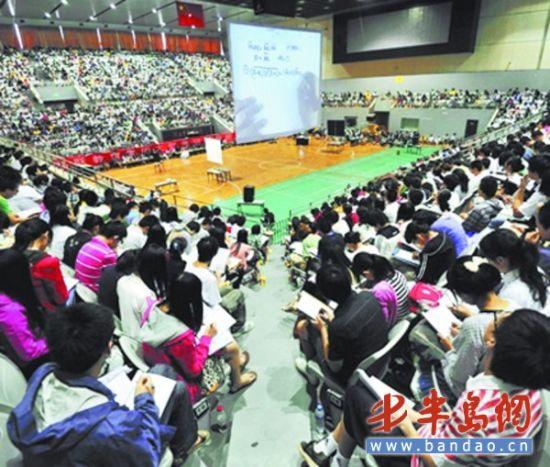 独立学院的学生是考研辅导班的常客。
