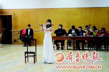 15日,曲师大音乐学专业考试现场。