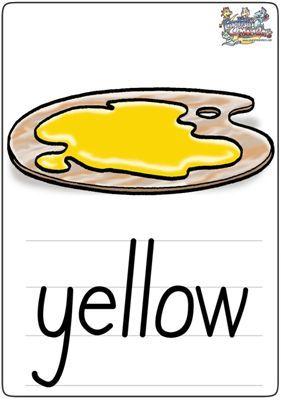 趣味:少儿英语学习卡片之颜色篇(图)