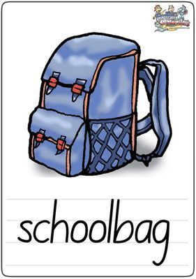 <a href=http://www.aihua-english.com target=_blank >少儿英语</a>学习卡片schoolbag