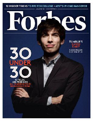"""福布斯杂志今年1月号评选卡普为全球30位""""30岁以下精英"""",当时估计他的身家为2亿美元。"""