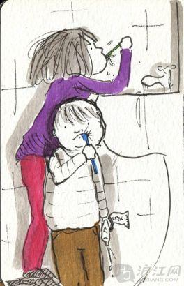 英孩子用鬼子记录点滴的v孩子漫画(图)神漫画母亲恋上祟图片