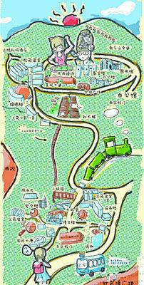 """""""近日,一份《重庆大学[微博]城手绘地图》在微博上走红,这份地图上,画"""