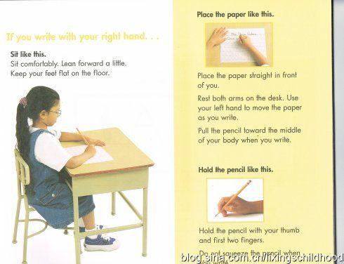 握笔姿势-美国小学一年级老师这样教英语