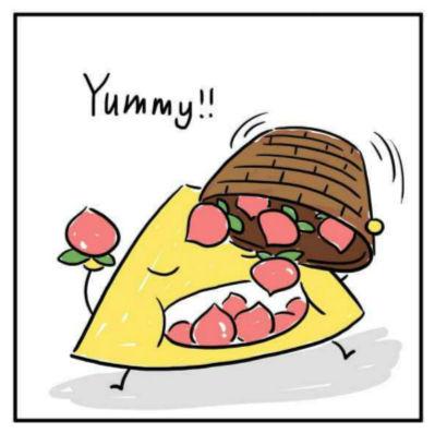 四角狗 布贴画-绘者:蒲蕾英绘本工作室   猪的外表十分可爱(lovely),胖乎乎(fat)