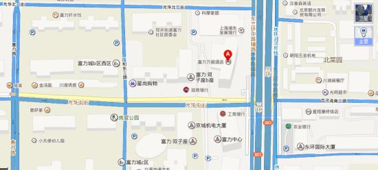 北京富力万丽酒店地图