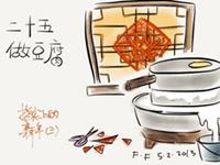 腊月二十五推磨做豆腐