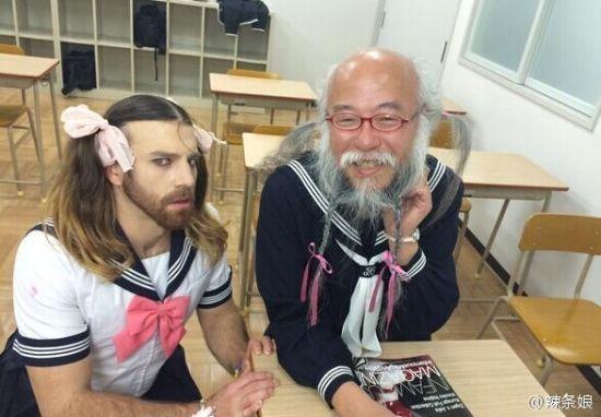重口味校园写真:大汉cos日本女子高中生的日常