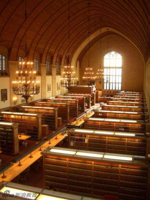 美国,纽约州,漪色加的康乃尔大学法学院图书馆。Cornell Law School Library, Ithaca, NY