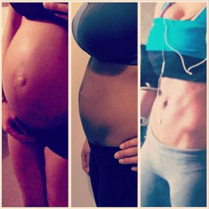 """夏奇拉在生产后短短8周,就从大腹便便变成了""""八块腹肌""""。"""