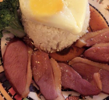 第四天午餐:蜜汁鸭胸饭