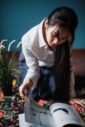 20岁西航女生清新面庞 演绎中国古典美