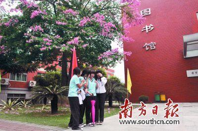 今年全市高中阶段学校招生总计划32696人。南方日报记者 王云 摄