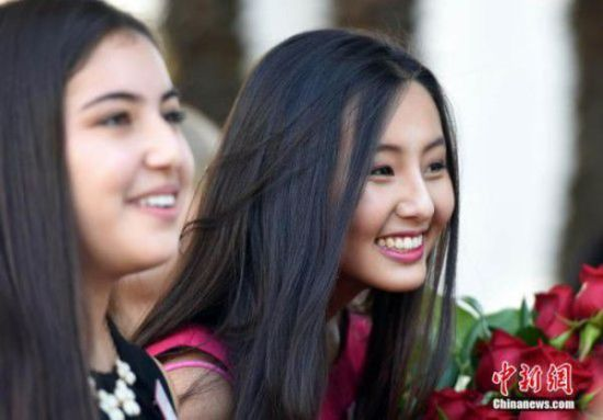 17岁华裔美国高中女孩入选美国玫瑰公主-美国高中网