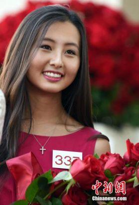 17岁华裔美高女孩入选美国玫瑰公主