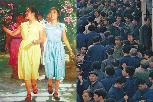 50年代的布拉吉,60、70年代的绿军装和工作服