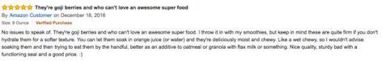 """""""我爱枸杞!他们是最棒的超级食物!"""""""