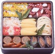 日本正月料理:一二层盒子中的料理