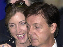 Heather Mills and Paul McCartney