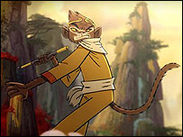 An image of The Monkey King in action in the BBC's Olympic title sequence