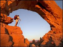 A traveller in the desert