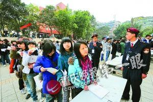 2008年,艺考生排队报名现场。(资料图片)记者 史宗伟 摄