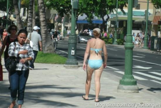 美国夏威夷海滩美女夏威夷海滩美女中国沙滩比基尼美