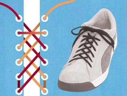 男生鞋带花样图解