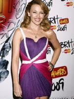 凯莉米洛紫裙秀