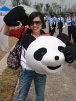 MM和熊猫头套
