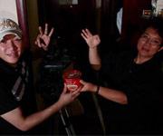 刘涛在外景地过生日