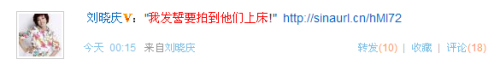 """刘晓庆微博怒骂狗仔柯蓝妙语促销""""火星""""(图)"""