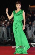 金南珠碧绿长裙
