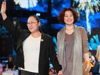 斯琴高娃(左)和丛珊