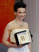 朱丽叶-比诺什凭《副本》获最佳女演员奖