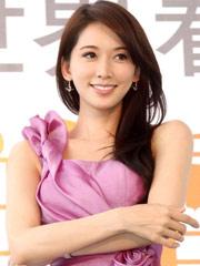 林志玲紫裙优雅