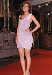 莎莎紫裙美腿