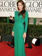安吉丽娜-朱莉绿色长裙