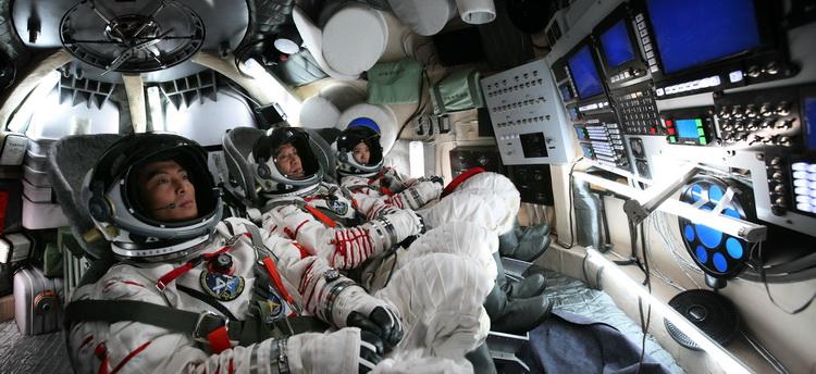 中国宇航员在空间站中