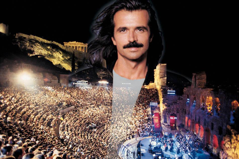 雅尼1994年在希腊雅典卫城的表演