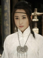 杜若溪饰白孔雀