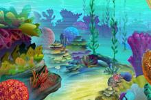 鲜艳海底生物