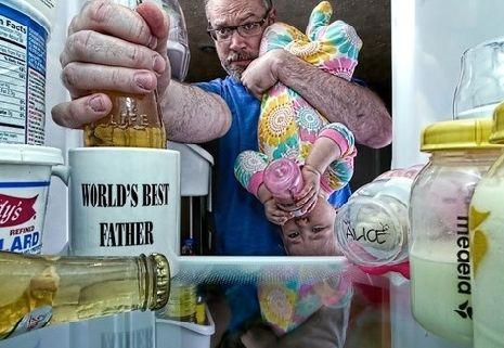 """""""世界上最好的奶爸""""系列摄影"""