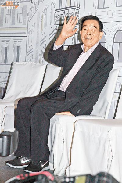 郑彤裕仍在医院休养,没有出席孙儿婚宴。